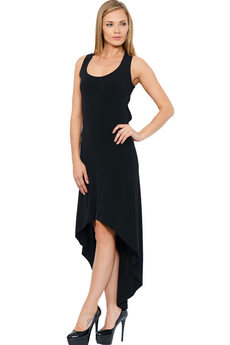 Черное вечернее платье с открытой спиной Mondigo