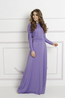 Длинное платье с рукавами и V-образным вырезом на спине Mondigo